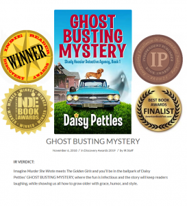 Best Indie Humor & Mystery Book 2019 | Ghost Busting Mystery | Daisy Pettles